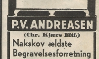 Nakskov - Begravelsesforretning.