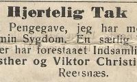 Reesnæs - Ester og Viktor Christiansen.
